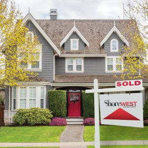 Shorewest Sold Sign Infront of Home